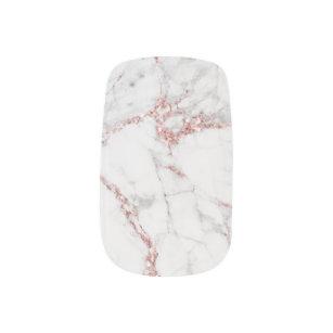 Marble Rose Gold Nail Art Nail Wraps Zazzle