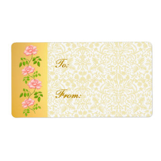 Rose Gold White Ornamental Gift Tags Label