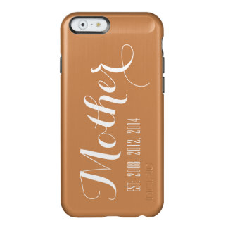 Rose Gold White Script Mother's Day Keepsake Incipio Feather Shine iPhone 6 Case