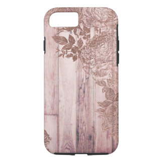 Rose Gold Wood Vintage Distressed Tough Phone Case