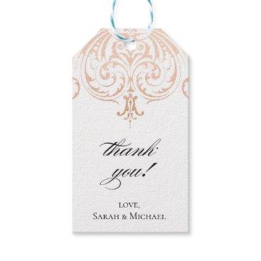 BlushPaperie Rose Golf Foil (Faux) Thank You Tag Boho Wedding