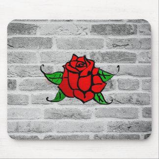 Rose Graffiti Mouse Pad