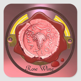 ROSE GRAPE WINE RED WAX SEAL
