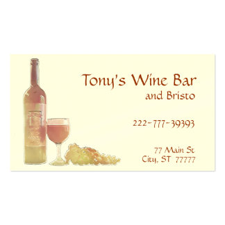 Rose Grape Wine Template Double-Sided Standard Business Cards (Pack Of 100)