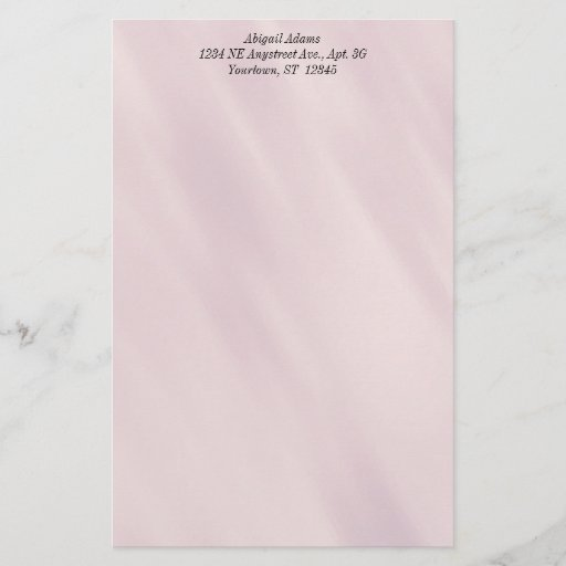 Rose Gray Personalized Stationery