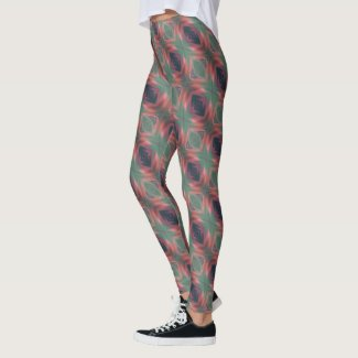 Rose Green Eye of God art by EelKat Wendy C Allen Leggings