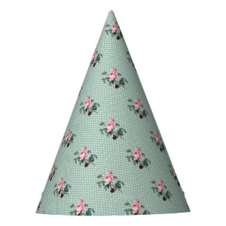 Rose Green Morrocco Party Hat