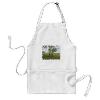 Rose grey alpaca adult apron
