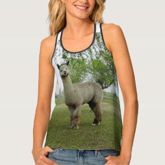 Rose Grey Alpaca Tank Top