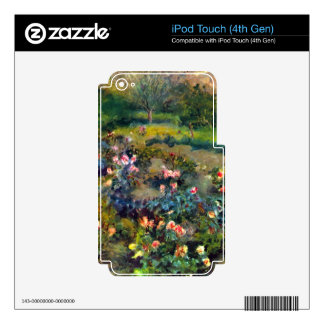 Rose grove by Pierre Renoir iPod Touch 4G Decals