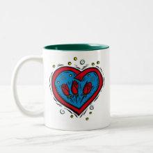 Rose Heart with I Love You Mug