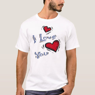 Rose Heart 1 with I Love You 6 T-Shirt
