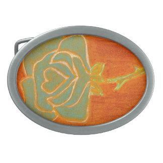 """""""Rose Heart #4"""" Floral Belt Buckle"""
