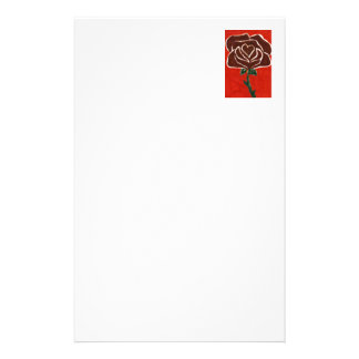 """""""Rose Heart #7"""" Floral Stationery"""