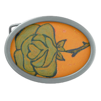 """""""Rose Heart #9"""" Floral Belt Buckle"""