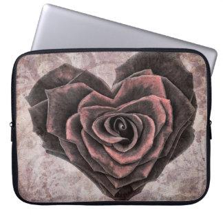 Rose Heart Computer Sleeve