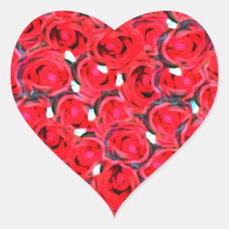 Rose heart effect heart sticker