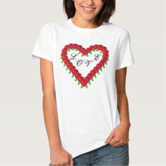 Rose Heart Love T-shirt