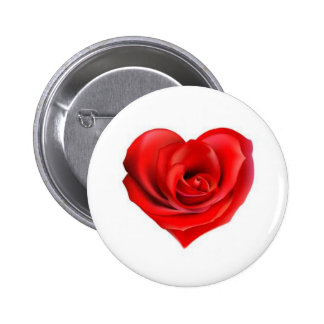 Rose Heart of Love 2 Inch Round Button