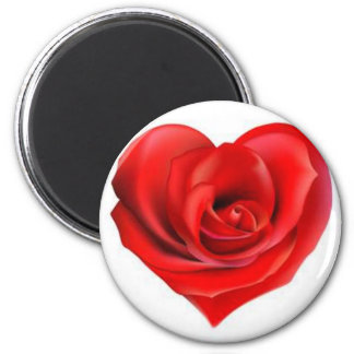Rose Heart of Love 2 Inch Round Magnet