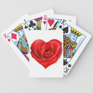 Rose Heart of Love Bicycle Playing Cards
