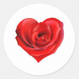 Rose Heart of Love Classic Round Sticker
