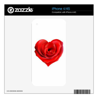 Rose Heart of Love iPhone 4 Decals