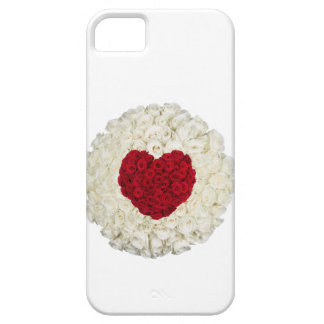 Rose heart on white iPhone 5 case