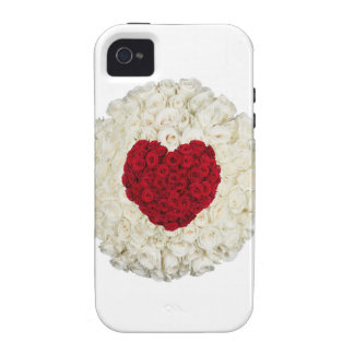 Rose heart on white iPhone 4 cover