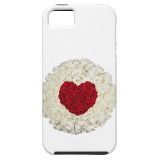 Rose heart on white iPhone 5 covers