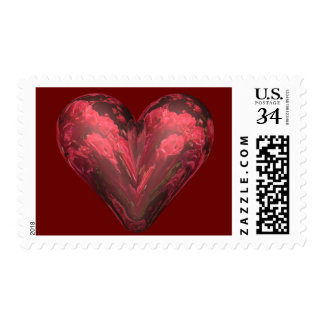 Rose heart postage