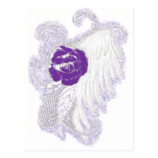 Rose Heart Purple Postcard
