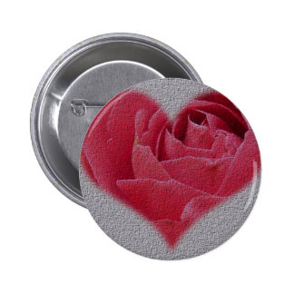 Rose Heart with Texture Button
