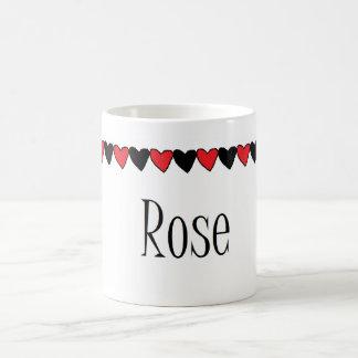 Rose Hearts Name Coffee Mugs