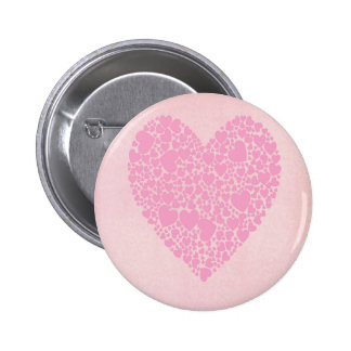 Rose Hearts Pinback Button