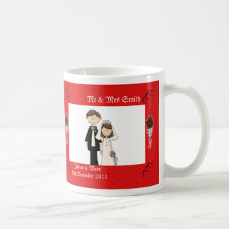 Rose Hearts Wedding Coffee Mug