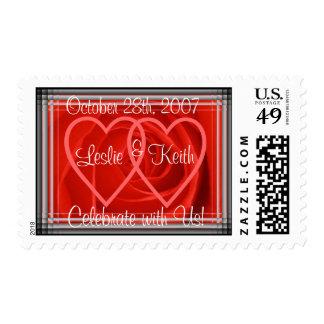 Rose & Hearts Wedding Stamp(large size stamp) Postage