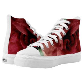 Rose High-Top Sneakers