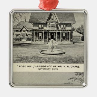 Rose Hill, Judd residence Square Metal Christmas Ornament