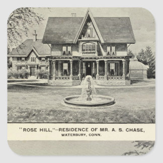 Rose Hill, Judd residence Square Sticker