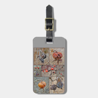 Rose Hip Collage Luggage Tag