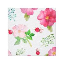 Rose Hip Garden Pattern Canvas Print