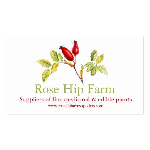 Rose hip herbal farm suppliers business card
