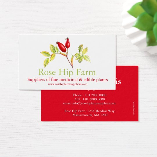 Rose hip herbal farm suppliers business card