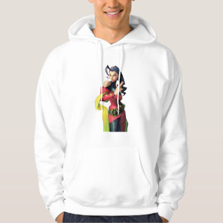 Rose Holding Up Two Fingers Hoodie