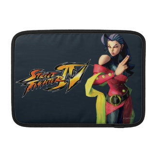 Rose Holding Up Two Fingers MacBook Sleeves