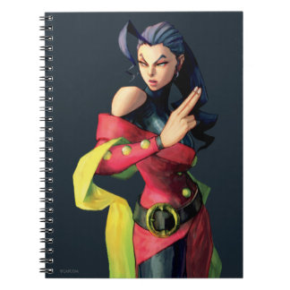 Rose Holding Up Two Fingers Spiral Notebook