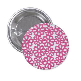 Rose hollow pinback button
