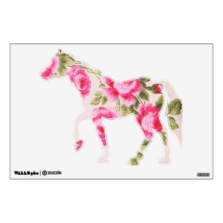 Rose Horse Wall Decal