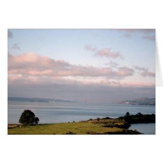 Rose-hued Golden Gate Card